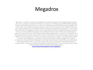 DHEA is not likely to be  Megadrox useful to