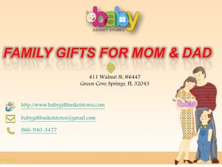 Family Gifts for Mom and Dad
