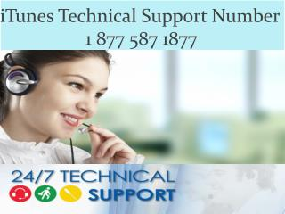 iTunes customer support 1 877 587 1877 number