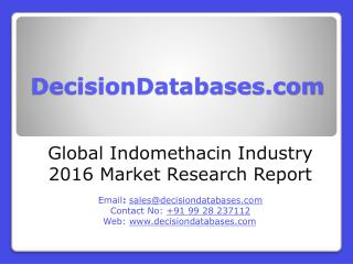 Global Indomethacin Market 2016:Industry Trends and Analysis