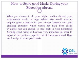 How to Score good Marks During your Education Abroad