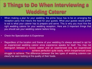 Portland wedding caterers