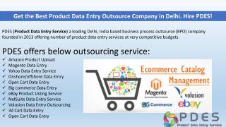 Best Product Data Entry Outsource Company in Delhi