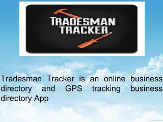 Tradesman Tracker - Online Search Facility