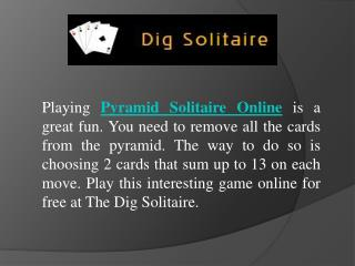 Play Pyramid Solitaire Online For Free
