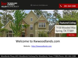 Homes for sale in woodlands tx