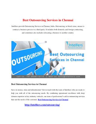 Best Outsourcing Services in Chennai
