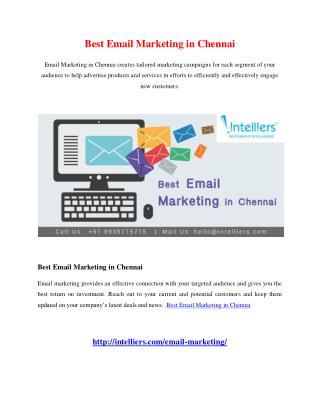 Best Email Marketing in Chennai