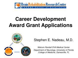 Career Development Award Grant Applications
