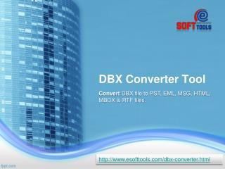 Outlook Express DBX Converter Tool