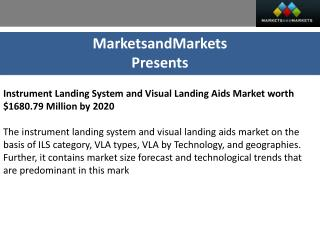 Instrument Landing System & Visual Landing Aids Market by Technology - 2020 | MarketsandMarkets