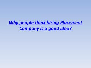 placement company miami