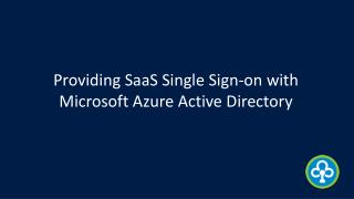 Providing SaaS Single Sign-on with Microsoft Azure Active Directory - Infochola