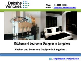 Kitchen and Bedroom Designers in Bangalore,India
