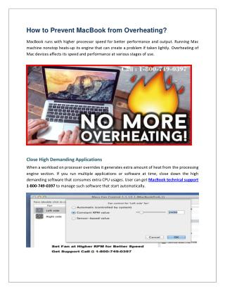 How to Prevent MacBook from Overheating?