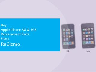 Buy Apple iPhone 3G & 3GS Replacement Parts From ReGizmo
