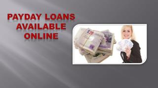 Payday Loans Available Online