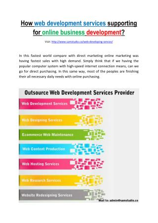 How web development services outsourcing supporting for business development