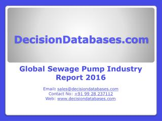 Global Sewage Pump Market Forecasts to 2021