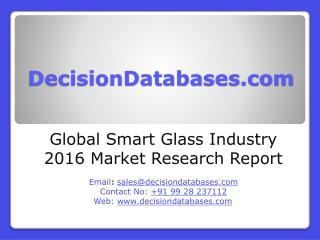 Global Smart Glass Market 2016:Industry Trends and Analysis