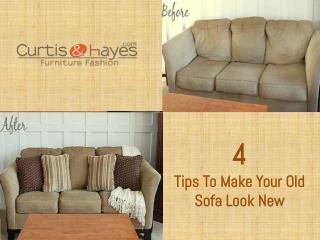 4 Tips To Make Your Old Sofa Look New