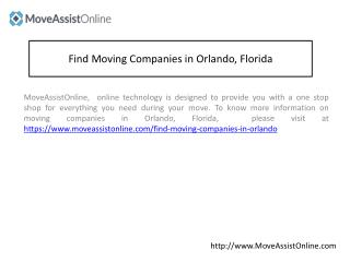 List of Top Moving Companies in Orlando