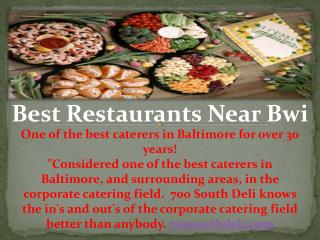 Best Restaurants Near Bwi