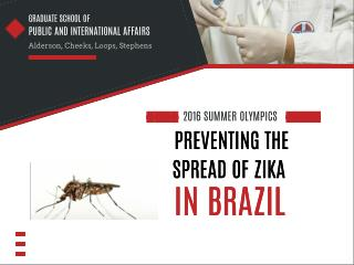 Preventing the Spread of Zika in Brazil