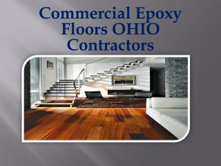 Commercial Epoxy Floors OHIO Contractors