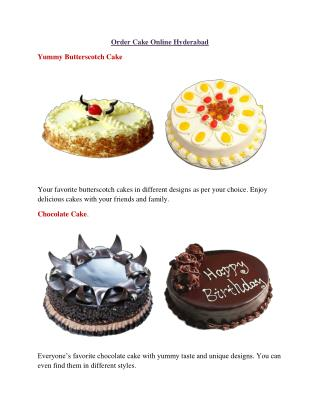 Order Cake Online Hyderabad - Best Bake