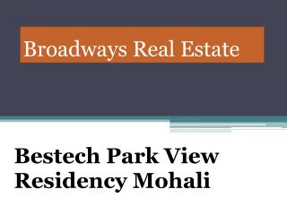Bestech Park View Residency Mohali, Bestech 3bhk Flats Sector 66 Mohali