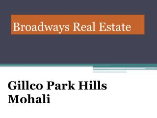 Gillco Park hills Flats Mohali, Gillco Park hills Sector 126 Mohali, Gillco 3bhk Park hills