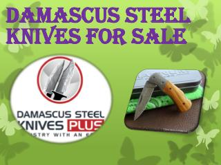 Damascus Steel knives�For Sale
