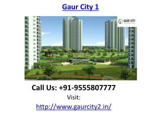 Gaur City 1 Housing project Noida Extension