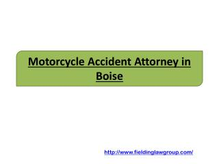 Motorcycle Accident Attorney in Boise