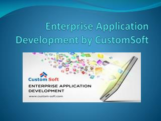 Enterprise Application Development by Custom Soft