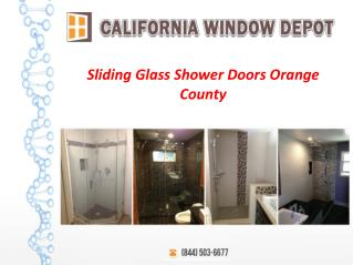 Sliding Glass Shower Doors Orange County