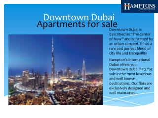 Downtown dubai apartments for sale | Hamptons International Dubai