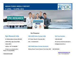 Epic Research Weekly Forex Report 11 April 2016