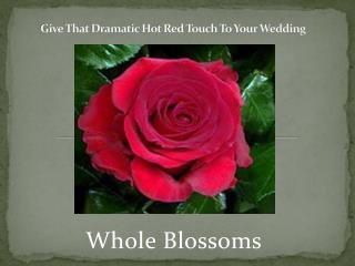 Give That Dramatic Hot Red Touch To Your Wedding