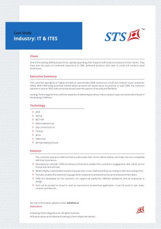 Case Study -CXM tool for IT&ITeS