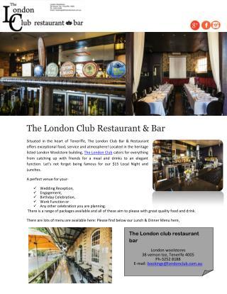 The London Club Restaurant & Bar