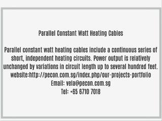 Parallel Constant Watt Heating Cables