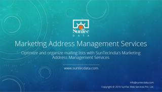 Marketing Address Management Services - SunTecData