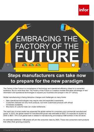Be Prepared For the Paradigm Shift in Manufacturing Industry