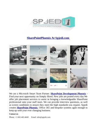 SharePointPhoenix At Spjedi.com