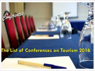 The list of Conferences on tourism 2016