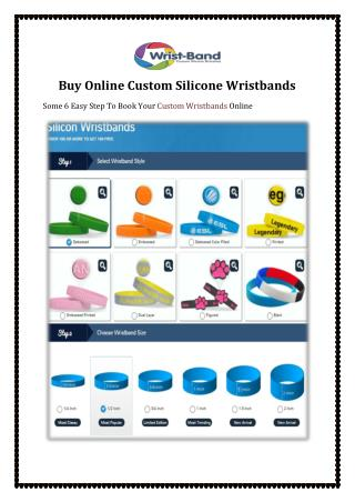 Buy Online Custom Silicone Wristbands