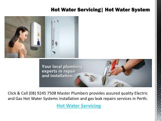 Hot Water Servicing| Hot Water System