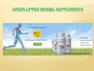 Green Lipped Mussel Supplements